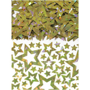 3 x Gold Stars Shimmer Prismatic Table Confetti Sprinkles 14g