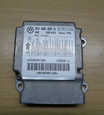 VW GOLF MK5  AIR BAG CONTROL MODULE UNIT ECU 1K0909605