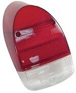 98-1077-B Tail Light Lens, Fits Left or Right, 68-70, Euro Style, /Red/White, OE