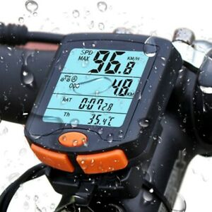 Cycling Bike Bicycle LCD Cycle Computer Odometer Wired Speedometer Waterproof