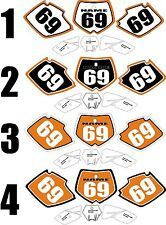 Graphics for 2001-2003 KTM SX 125-250 sxf 250-450 Number Plates Side Panel Decal