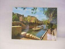 Vintage Couleurs Et Lumiere de France La Seine et le Quai Montebello Postcard