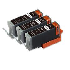 3 BLACK Printer Ink + smart chip for Canon PGI-250 MG7120 MG7520 MG6620 MG5622