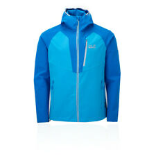 Jack Wolfskin Mens Kanuka Point Jacket Top Blue Sports Outdoors Full Zip Hooded