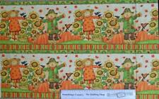 Patchwork Quilting Sewing Fabric GRATEFUL HARVEST SCARECROWS Border Panel 40x...