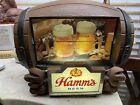 Vintage Hamm's Beer Barrel Lighted Scene Flip Motion Sign Hamms Bear Working