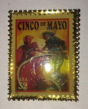 Fiesta Cinco De Mayo Pin .32 Postage Stamp Brooch/Pin Rare Collectible