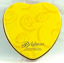 Brighton Heart Shaped Tin Empty Container Trinket Keepsake Collectors Box Can
