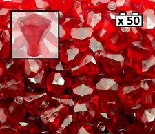 50x LEGO Red rock Transparent Gem new