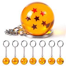 Popular Anime Dragon Ball Cosplay Crystal Ball Stars Keychain Keyring Pendant