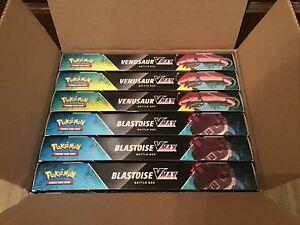 Pokemon TCG Blastoise VMAX and Venusaur VMAX Battle Box NEW CASE (6 Boxes)