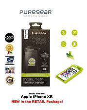 PureGear Steel 360 Tempered Glass Screen Protector with Tray for Apple iPhone XR