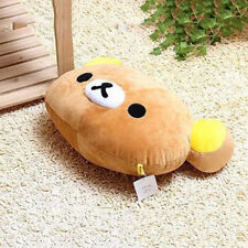 Funny Rilakkuma Relax Bear Head Plush Cushion Pillow Brown Kids Gifts