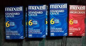 LOT 7 Maxell Videocassette Standard Grade 6 hours T-120