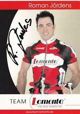 CYCLISME carte cycliste ROMAN JORDENS  équipe LAMONTA  signée