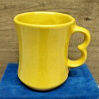"FRANKOMA Pottery # C9 Two Finger Coffee Mug Yellow 4""  Vintage"
