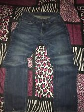 Bullhead Jeans Dillon Skinny 30X32  Mens Destroyed Denim Ripped Blue