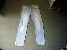 "Denim Co Slim Jeans Waist 32"" Leg 30"" Faded Light Blue Mens Jeans"