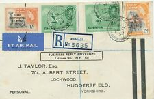"""GHANA 1959 mixed postage independence CDS """"KUMASI REGISTERED ACCEPTANCE / GHANA"""""""