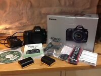 Canon EOS 5D Mark III 22.3MP Digital SLR Camera - Black (Body Only)+ 3 batteries