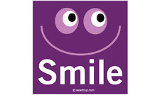 SMILE MAGNET Bumper Sticker FUN to put on your CAR or at WORK smiley face purple