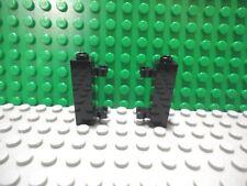 Lego 2 Black 1x1x3 Door Hinge brick NEW