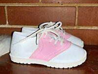 PITTER PATTER Saddle Oxford PINK & WHITE Vintage Toddler Shoes Sz 8 ❤️sj17j16
