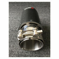 Universal Gloss Carbon Fiber Car Exhaust Pipe Tail Muffler End Tip 60-89mm VP