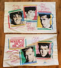 Vintage 1990 Rock Express New Kids on the Block pillowcases set of 2 Wahlberg