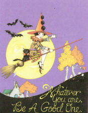 Abraham Lincoln-Be Good-Handmade Halloween Witch Magnet-w/Mary Engelbreit art