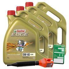 3x 5 L = 15 LITER CASTROL EDGE FLUID TITANIUM 0W-40 A3/B4 MOTOR-ÖL MOTOREN-ÖL