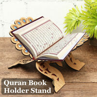 Quran Ramadan Allah Book Wood Holder Stand Wooden Carved Islamic Gift 2