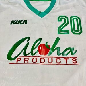 Aloha Products Kika 20 Mens Jersey Top White All Over Print Short Sleeve L