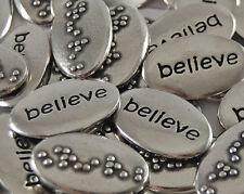Believe Braille Word Pebble - Bulk Lot of 10