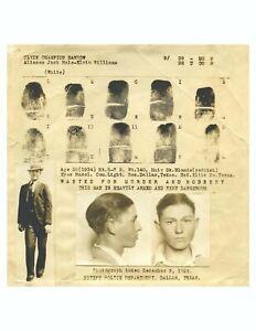 Bonnie & Clyde Prints and Mug Shot, vintage photo reproduction High quality 076
