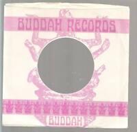 Company Sleeve 45 BUDDAH White w/ Pink Buddah Logo & Lettering on
