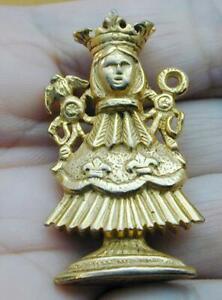 RARE Vintage Nettie Rosenstein Lady In Crown Queen Figural Pin