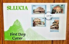 SAINT LUCIA   LOCAL ARCHITECTURE SET FDC 1984 4 STAMP SET