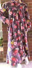 Afibel robe 1980/'s vintage robe floral print robe mid length robe 80/'s summer robe wraparound robe size 1012