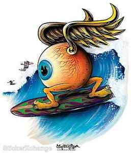 Surfing Eyeball Sticker Decal Artist Von Franco VF18 Roth Like