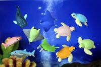 Iwako Deep Sea Animals - Turtle, Shark & Stingray Japanese Kawaii Puzzle Erasers
