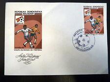 MADAGASCAR  673   PREMIER JOUR FDC     FOOTBALL ESPANA 82      40F     1982
