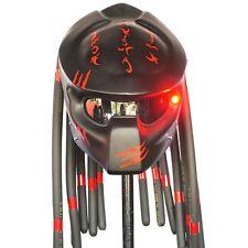 Black Red Claw Predator Motorcycle Helmet Biker Custom Free Size Open Face Casco