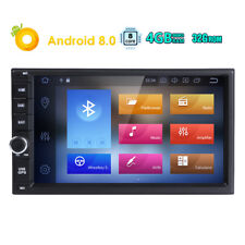 """Double Din 7"""" Android 8.0 4GB RAM Car Stereo Radio GPS Navigation BT OBD2 2DIN W"""
