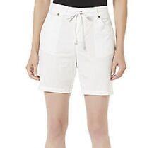 Basic Editions White Draw String Shorts Women Size 12