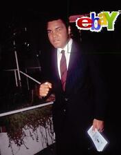 "MUHAMMAD ALI leaving Spago restaurant - original 8x10"" color photo-1991"