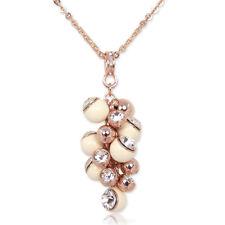 Kette Rosegold mit Kristallen von Swarovski® Creme 70er Jahre NOBEL SCHMUCK