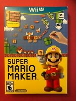 NEW & Sealed with dented box/case: Super Mario Maker for Nintendo Wii U (2015)