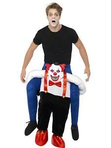 Sinister Clown Renvoi Ride Sur Halloween Adultes Hommes Costume Déguisement