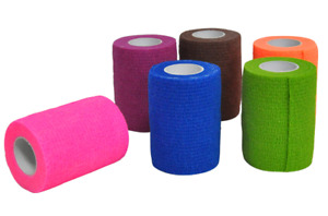 Haftbandage - 12 Rollen 7,5 cm x 4,5 m, selbstklebend, elastische Bandage